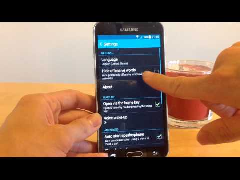 How to change the language of S Voice on the Samsung Galaxy S5