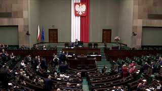 Posiedzenie Sejmu. Expose premiera i debata