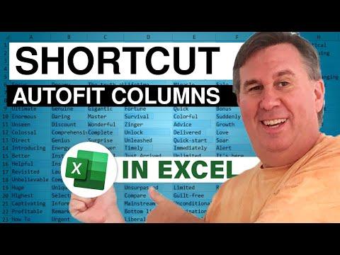 Excel Shortcut - AutoFit Column Width Podcast 2144