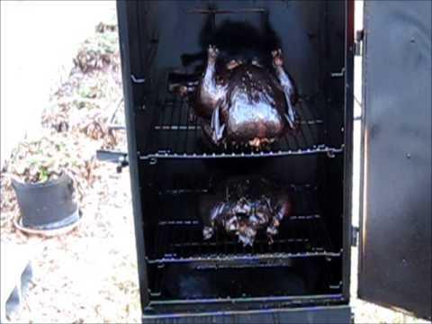 How to smoke 3 chickens on Masterbuilt Gas Smokehouse