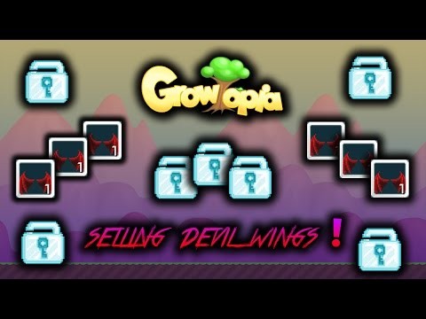 |Growtopia #17| - Selling Devil Wings For Cheap Or Profit [2016] :D ?!?!
