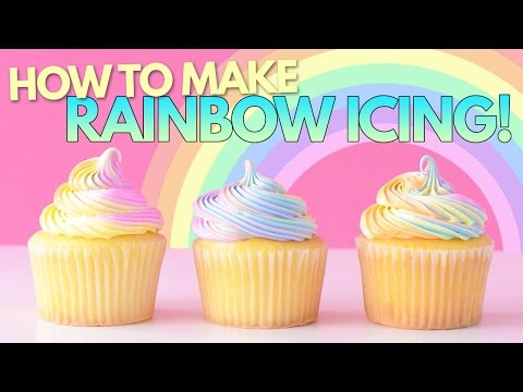 How to Make RAINBOW ICING!!