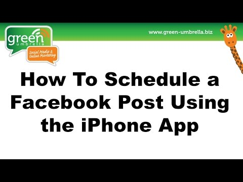 How To Schedule a Facebook Post Using the iPhone App