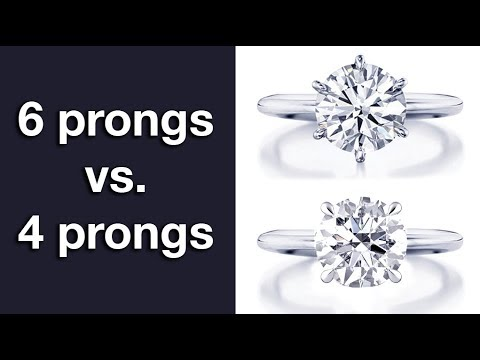 Solitaire: 4 prongs vs 6 prongs –  Explaining the Differences