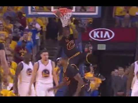 Lebron Dunk Lowers from the Net (Net Hang Finish) NBA Finals Game 7