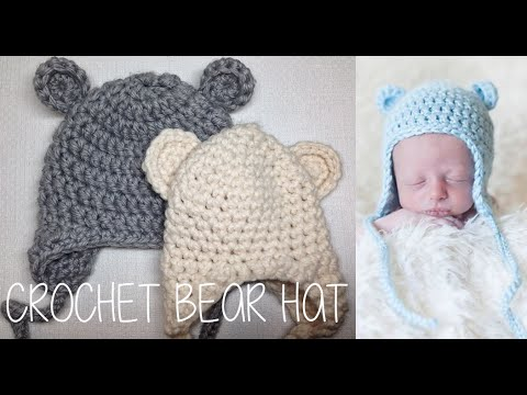b310e2cf85b HOW TO CROCHET A BEAR HAT - Free Toddler Pixie Hat Crochet Pattern