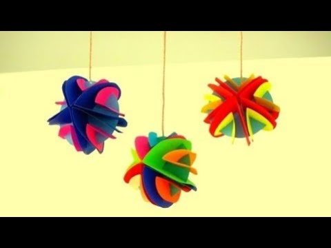 DIY Room / Wall Hanging Decor For X'mas/New year/Diwali ~ X'mas Tree Ornament ~ Easy Tutorial ....