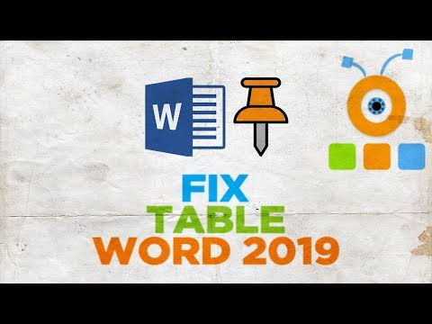 How to Fix a Table in Word 2019