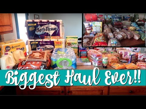 $400+ Large Family Once a Month Grocery Haul