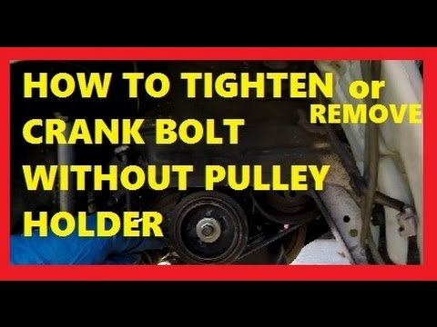 How To Tighten or Remove Crank Bolt without Pulley Holder- Jonny DIY