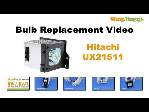 Hitachi UX21511 Bulb Replacement Guide for DLP TV Lamp
