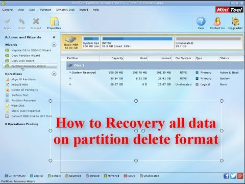 Dinh Studio | How to Recovery all data on partition delete format