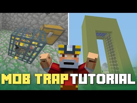 Minecraft Xbox 360/One: How to Build - Mob Grinder! (Mob Trap Tutorial!)