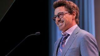 Robert Downey Jr Hilariously Introduce Scarlett Johansson At Varietys 10th Power Of Women Luncheon