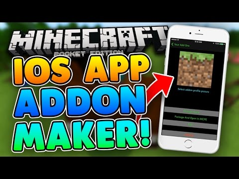 HOW TO MAKE ADDONS on iOS! Minecraft PE No PC/Jailbreak!! Make Addons on iOS iPad, iPhone!!