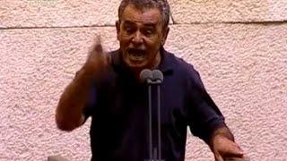 ח''כ ג'מאל זחאלקה נואם נגד הגזענות של ח''כ סתיו שפיר ומפלגת העבודה  -   צילום ערוץ הכנסת