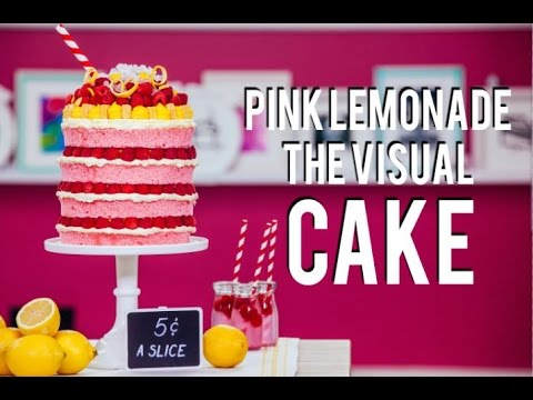 How To Make a PINK LEMONADE MEGA CAKE! BEYONCÉ inspired VISUAL CAKE filled with Lemon Curd!