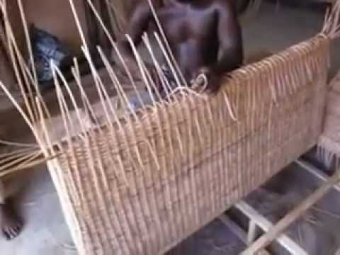 Making Cane and Bamboo Furniture Lome Togo West Africa