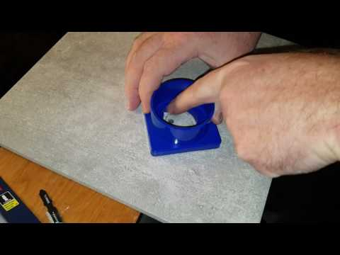 How To Quickly and Easily Drill a Hole in Hard Porcelain With A Diamond Bit