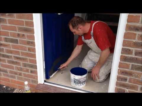 How to paint a plastic front door