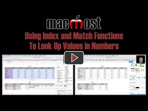 Using Index and Match Functions To Look Up Values in Numbers (#1647)