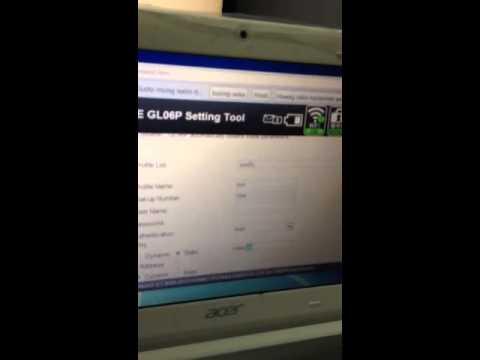 Pocket wifi GL06P sun APN settings
