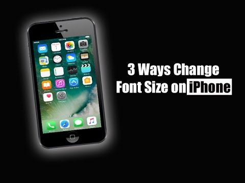 3 Ways Change Font Size on iPhone