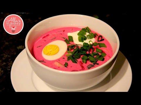Cold Beetroot (Borscht) Soup Recipe - Рецепт Xолодник (Борщ)