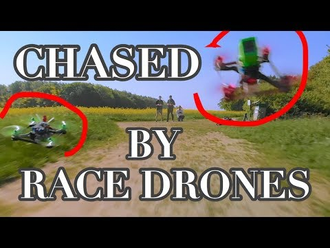 CHASED by RACE DRONES in slow motion