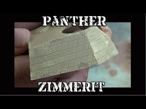 How To Make Zimmerit:  1/35 Panther Zimmerit Tutorial
