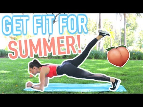 GET FIT FOR SUMMER! Full Body At Home Workout! No equipment Needed! | Jeanine Amapola