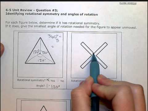 Identifying rotational symmetry and angles of rotation (SB)