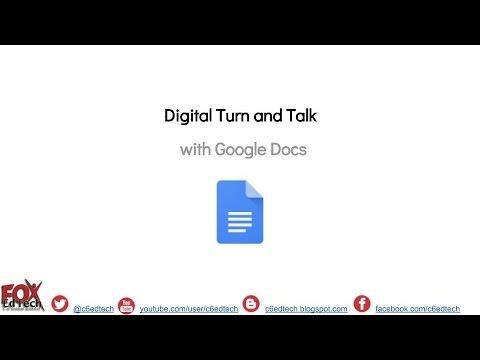 Use Google Docs to Create a Digital Turn and Talk Activity