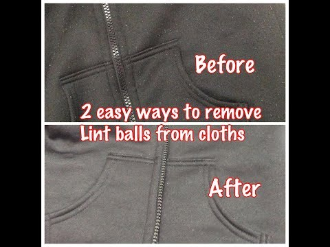 Two ways  to remove lint balls from woolen sweaters , cloths , Pants, Jackets, coats