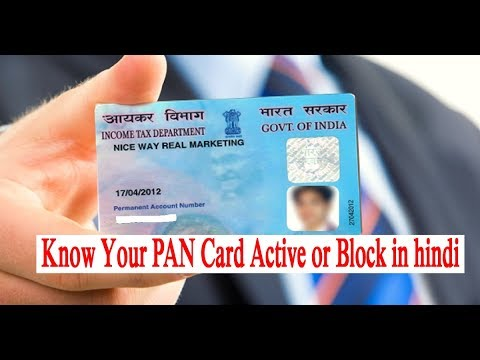 How To Check Your PAN Card is Active or Not in hindi