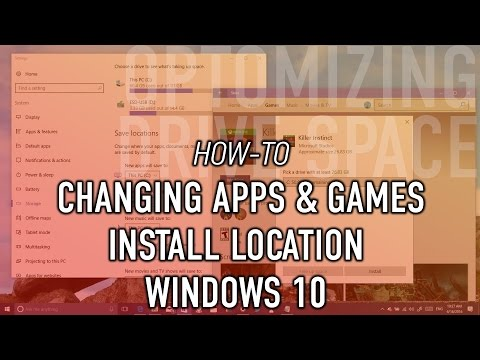 How to change default Windows 10 apps and games install location