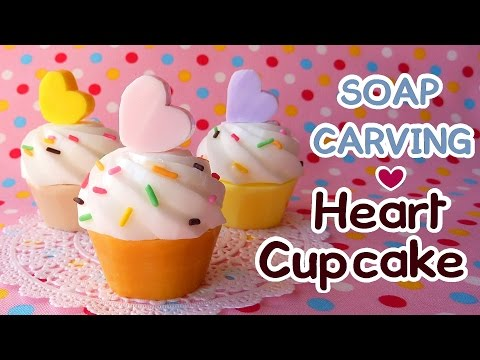 SOAP CARVING| Heart Cupcake | Easy | Soap Craft | DIY |