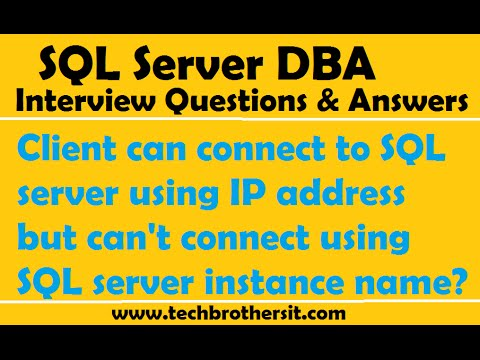 Client can connect to SQL server using IP address but can't connect using SQL server instance name