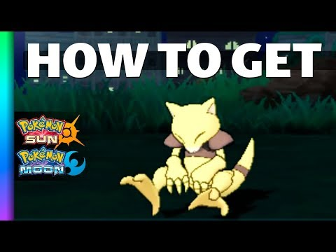 HOW TO GET Abra in Pokemon Sun and Moon