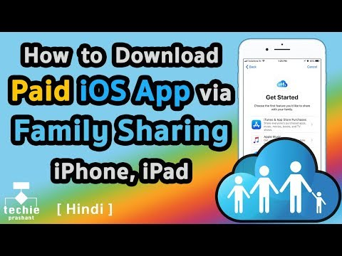 How to Download Paid iOS App or Games via Apple ID Family Sharing. HINDI