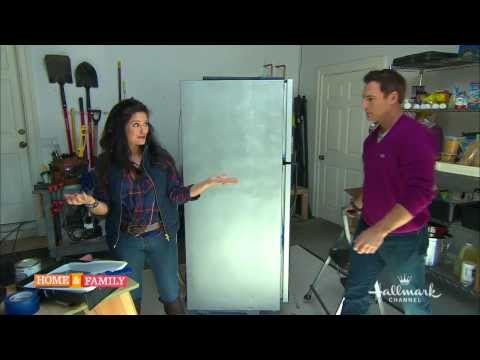Faux Stainless Steel Fridge (As Seen On Home & Family) - DIY by Tanya Memme