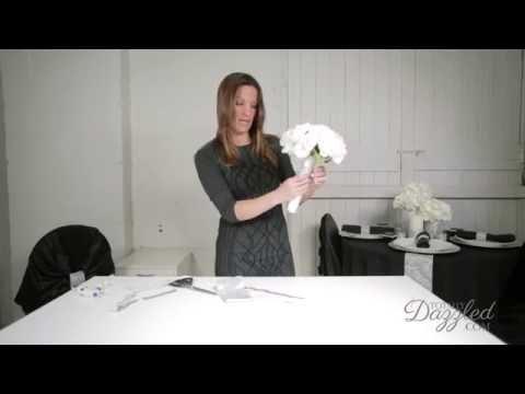DIY Wedding Bouquet Band with Bling, Wedding DIY Tutorial