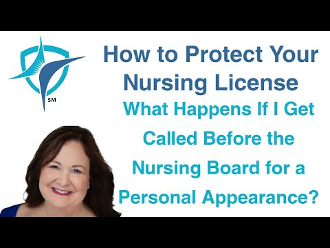 What Happens If I Get Called Before the Nursing Board for a Personal Appearance?