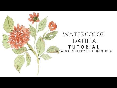 Watercolor Dahlia Tutorial