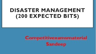 Disaster management top 200 expected bits telugu  for group1,group2,group3,panchayat secretary