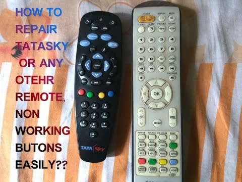 How to repair non working buttons of tatasky remote any remote