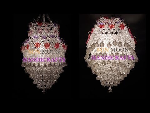 How to make Beaded Chandelier (Part-01)  / Beaded  Lampshade/DIY Beaded Jhar bati