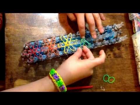STARBURST bracelet for rainbow loom! Step by step instructions