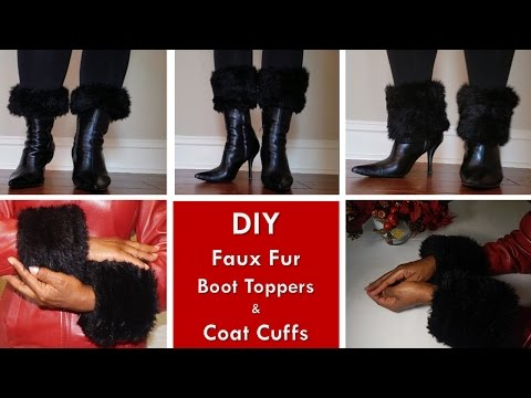 DIY - Boot Toppers And Coat Cuffs |  Bonus Dollar Tree Boot Shapers