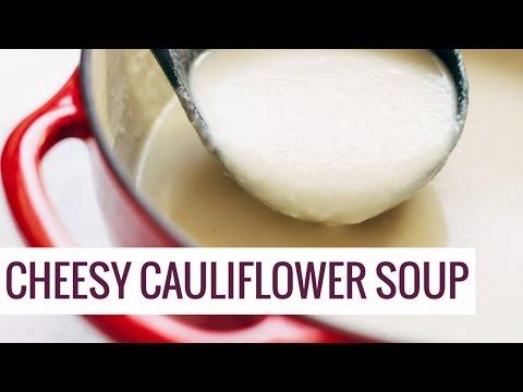 Five Ingredient Cheesy Cauliflower Soup